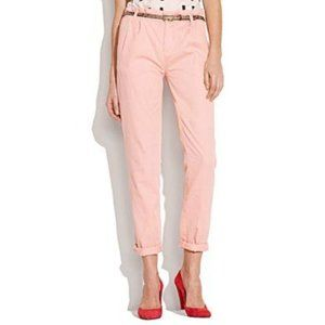MADEWELL Rivington Trousers in Pink Salmon - Sz 2